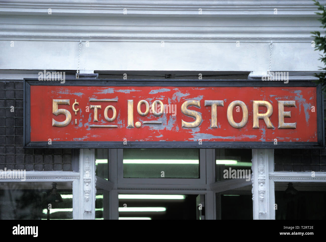 Antique general store sign on an old building - Stock Image
