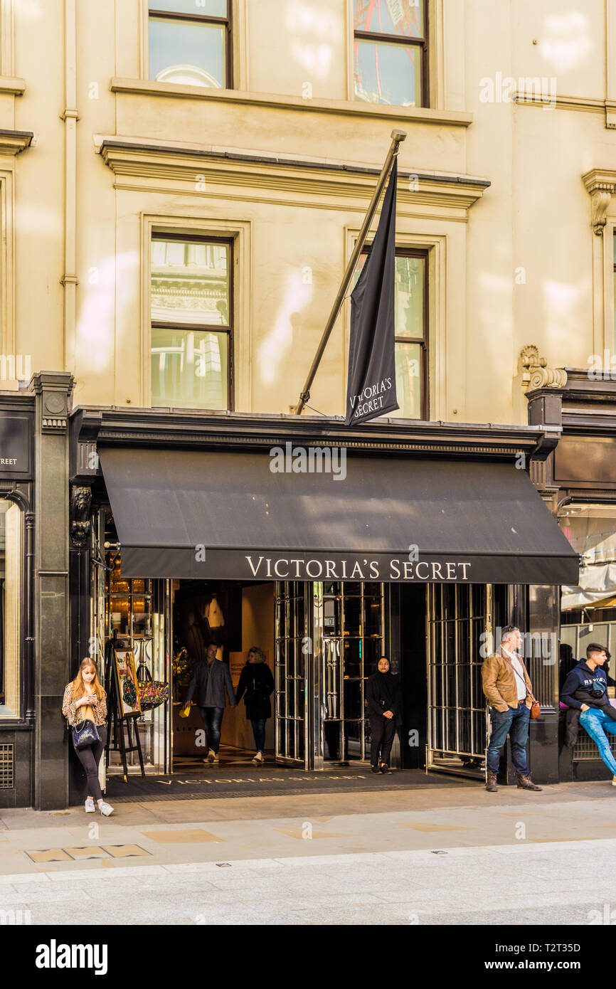 April 2019. London. A view of the Victoria Secrets store on Bond street in london - Stock Image