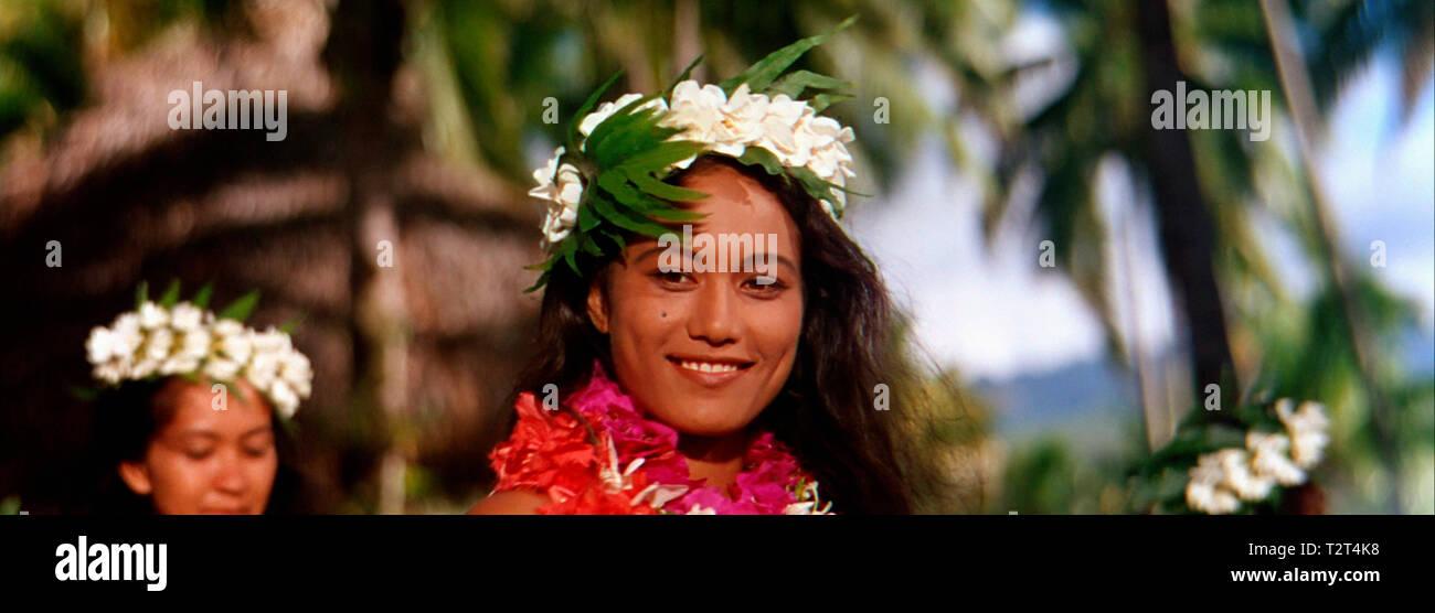 LES REVOLTES DU BOUNTY MUTINY ON THE BOUNTY 1962 de Lewis Milestone Tarita. histoire vraie; aventure; true story; adventure; Tahiti; tahitienne; tahit Stock Photo