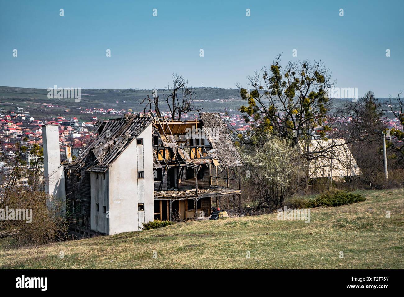 Abandoned house Hoia Baciu - Haunted Forest, Romania , A