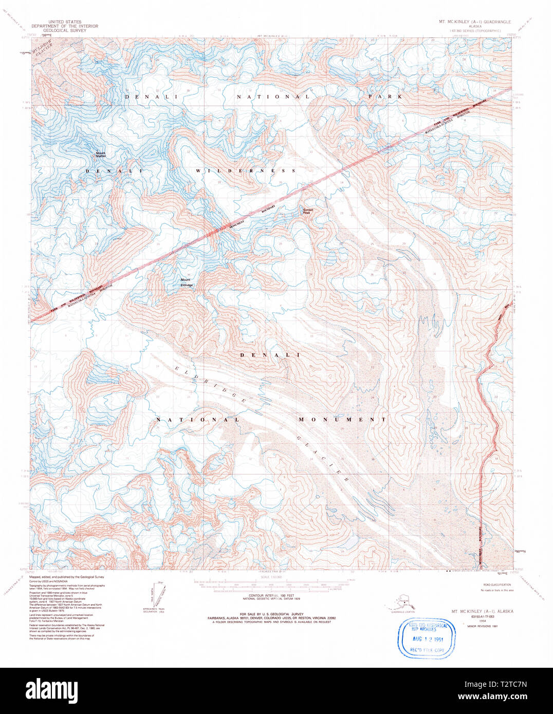 Usgs Topo Map Alaska Ak Mount Mckinley A 1 357876 1954 63360 - Mt-mckinley-on-us-map