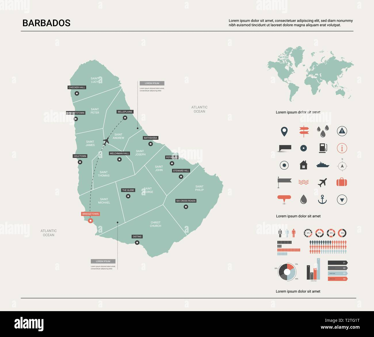 Picture of: Vector Map Of Barbados High Detailed Country Map With Division Cities And Capital Bridgetown Political Map World Map Infographic Elements Stock Vector Image Art Alamy