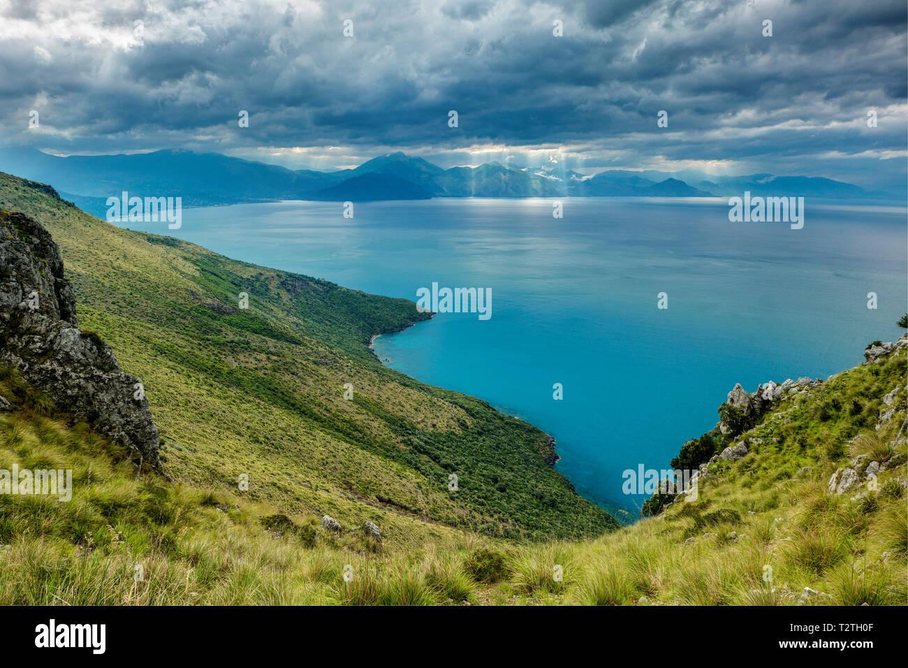 Italy, Campania, Cilento National Park,  Masseta and Infreschi Marine protected area, Policastro Gulf - Stock Image