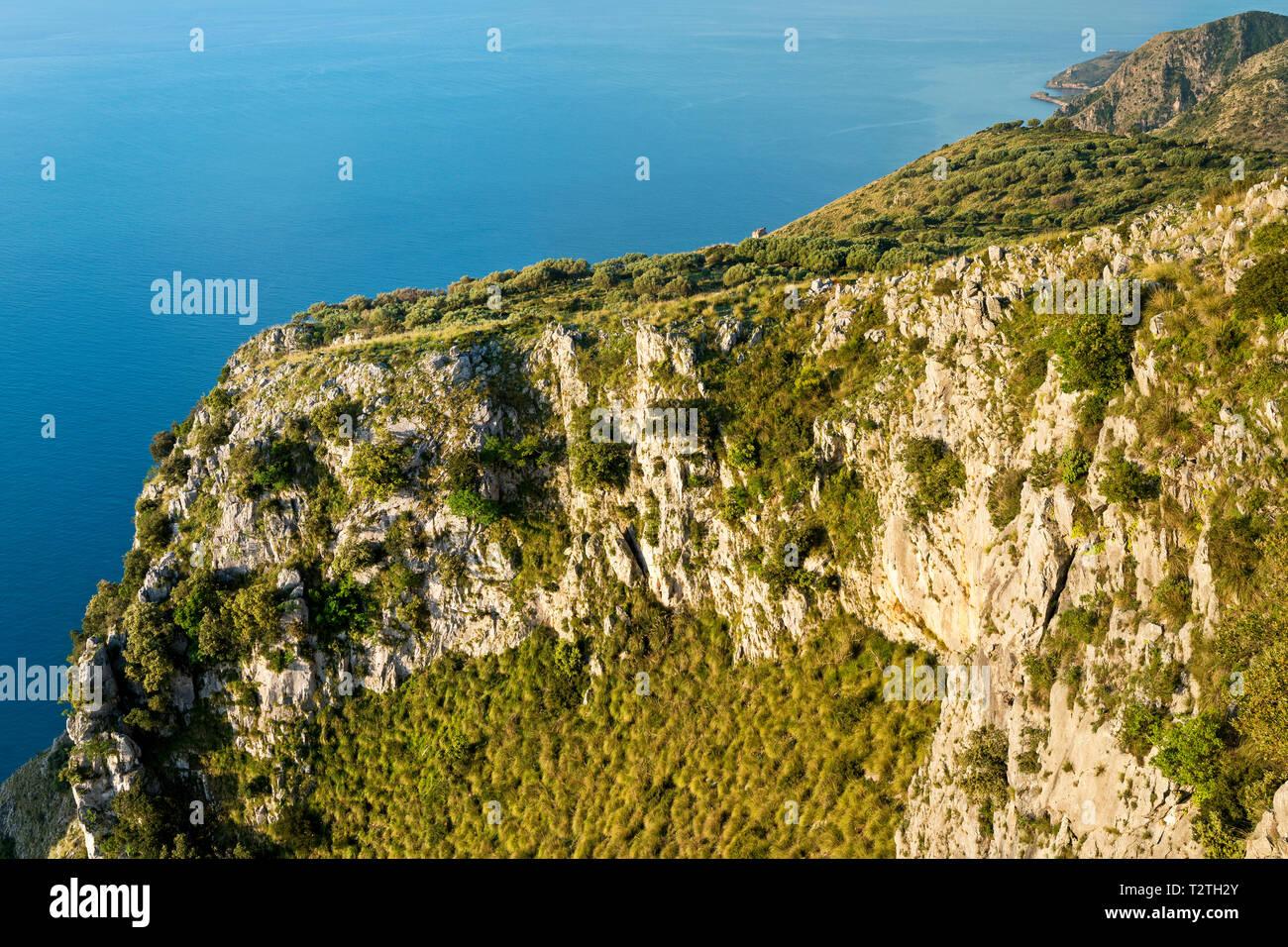 Italy, Campania, Cilento National Park,  Masseta and Infreschi Marine protected area - Stock Image