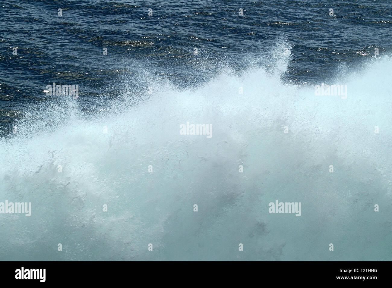tsunami, tidal wave, seismic sea wave Stock Photo