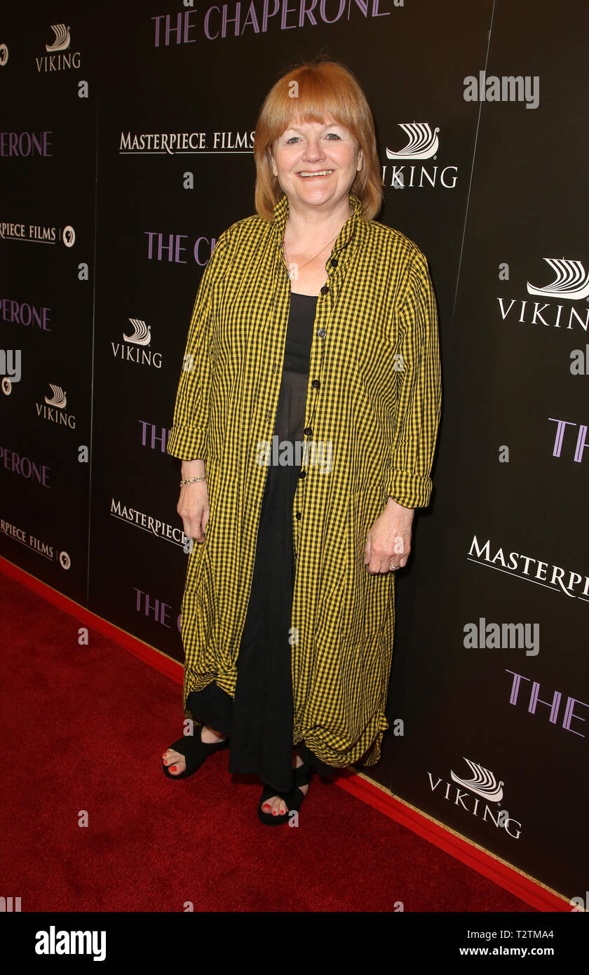 Los Angeles, Ca, USA. 3rd Apr, 2019. Lesley Nicol, at the Los Angeles Premiere of The Chaperone at the Linwood Dunn Theater in Los Angeles, California on April 3, 2019. Credit: Faye Sadou/Media Punch/Alamy Live News - Stock Image