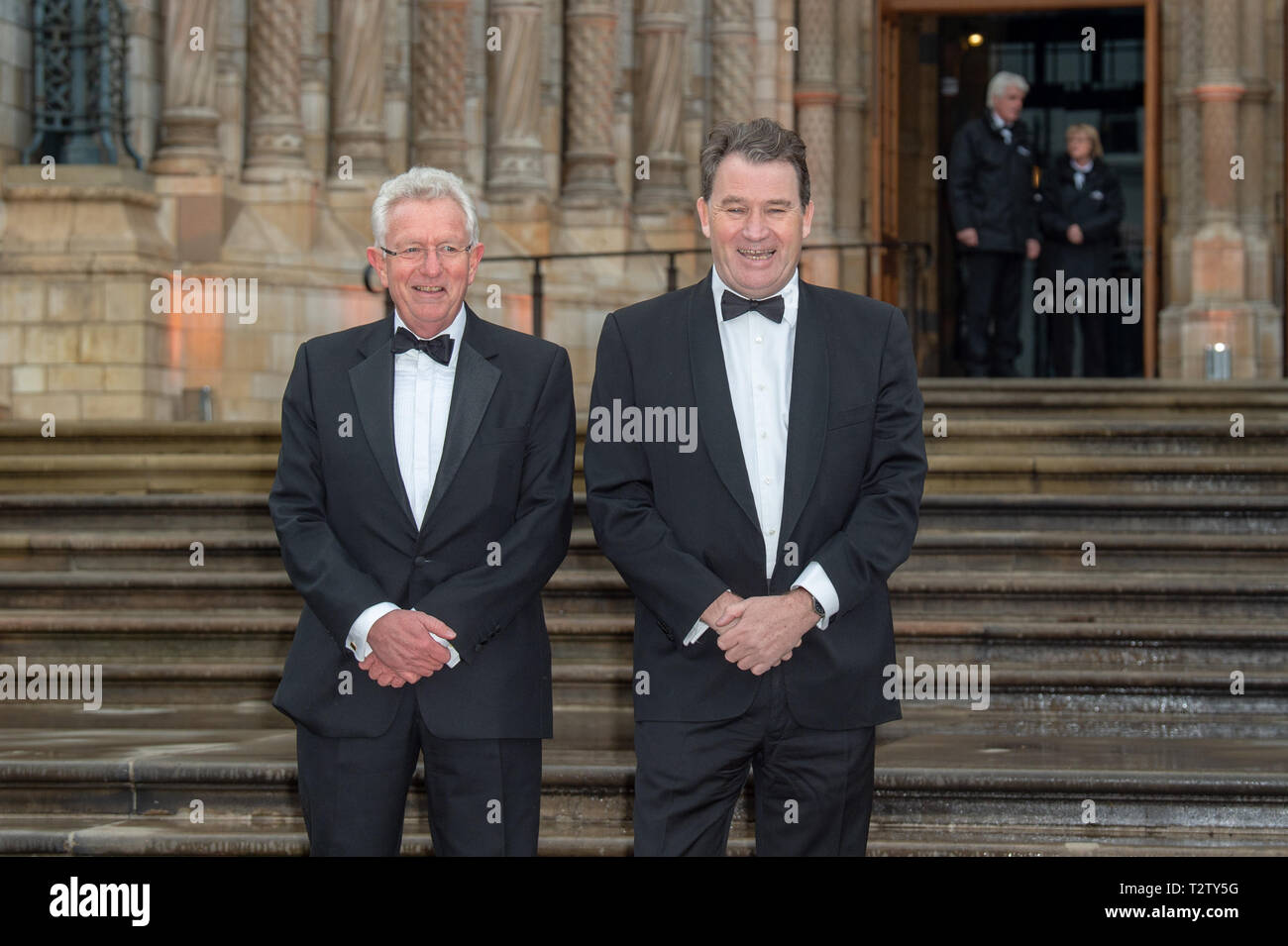 London, United Kingdom. 4 April 2019. Keith Scholey & Alastair Fothergill arrive at the global premiere of 'Our Planet' presented by Netflix. Credit: Peter Manning/Alamy Live News - Stock Image