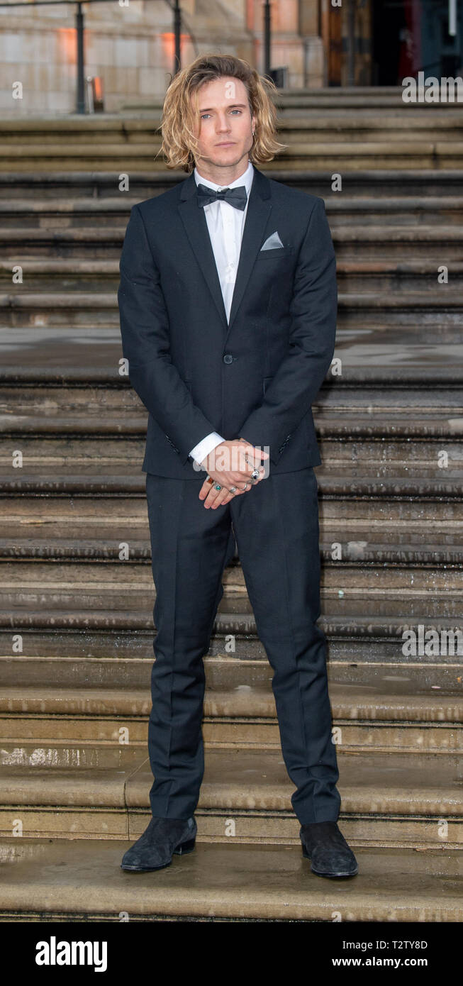 London, United Kingdom. 4 April 2019. Dougie Poynter attends the global premiere of 'Our Planet' presented by Netflix. Credit: Peter Manning/Alamy Live News Stock Photo