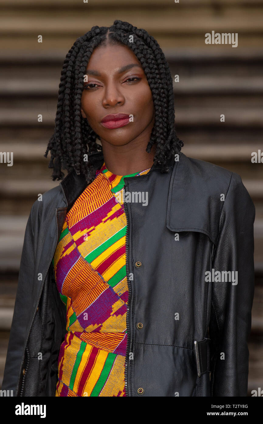 London, United Kingdom. 4 April 2019. Michaela Coel attends the global premiere of 'Our Planet' presented by Netflix. Credit: Peter Manning/Alamy Live News Stock Photo