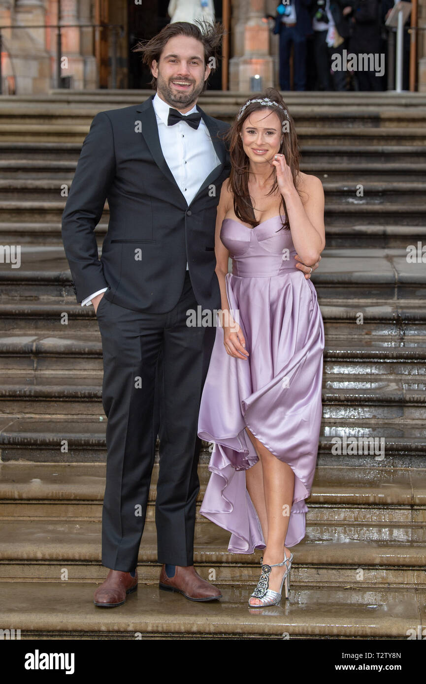 London, United Kingdom. 4 April 2019. Jamie Jewitt & Camilla Thirlow attend the global premiere of 'Our Planet' presented by Netflix. Credit: Peter Manning/Alamy Live News Stock Photo