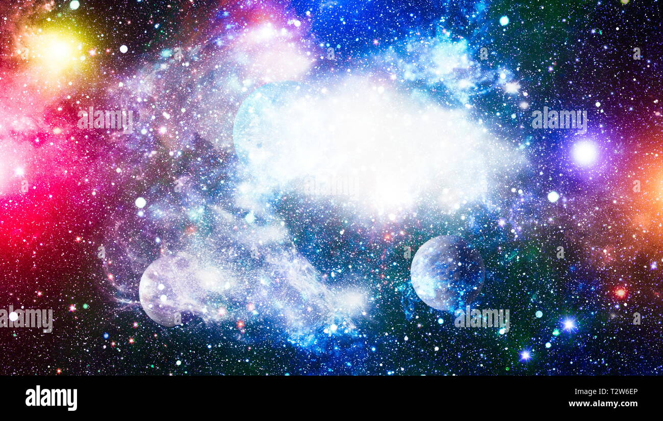 abstract space background  Night sky with stars and nebula