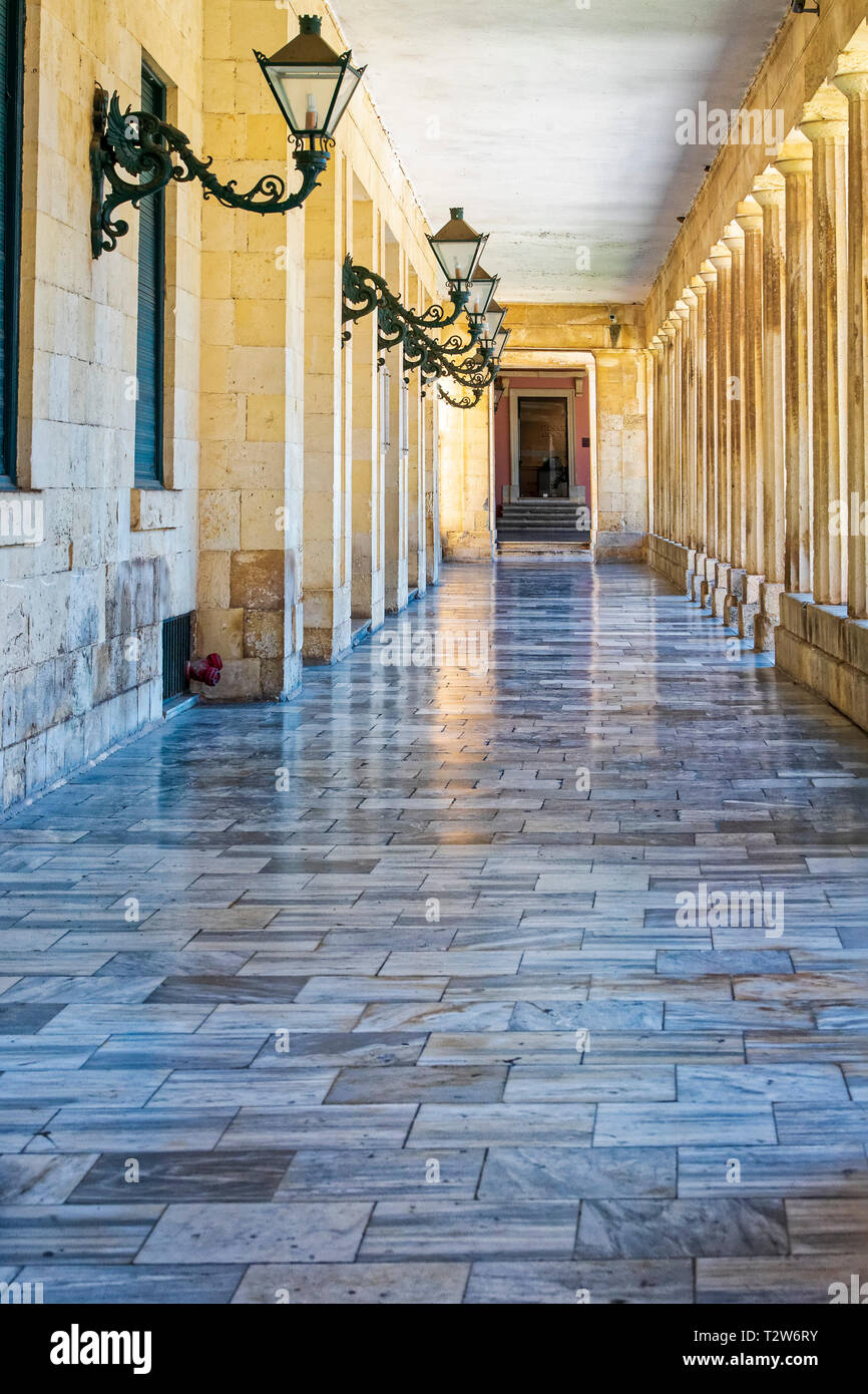 George and Michael Palace - Corfu Town - Stock Image