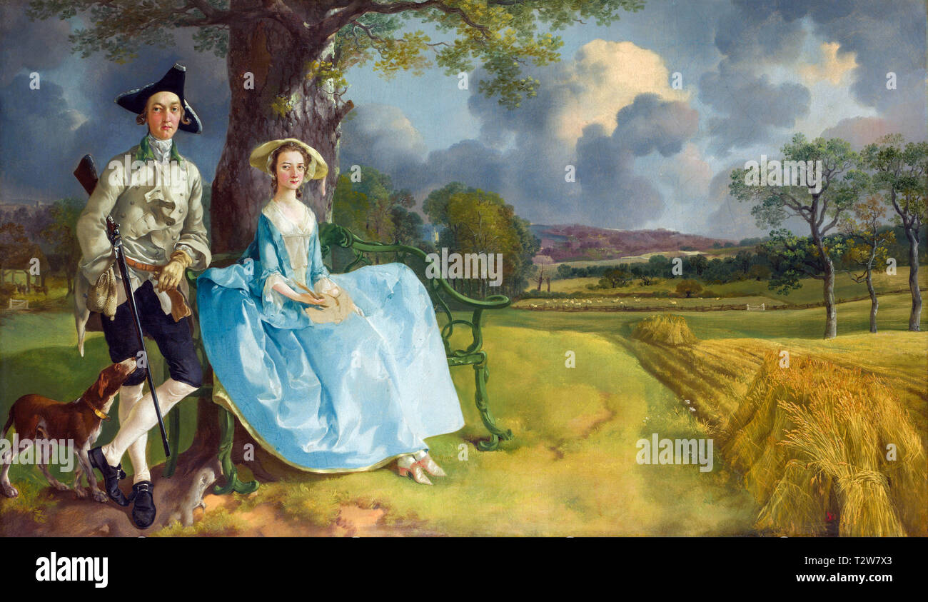Thomas Gainsborough, Mr and Mrs Andrews, portrait, c. 1750 - Stock Image