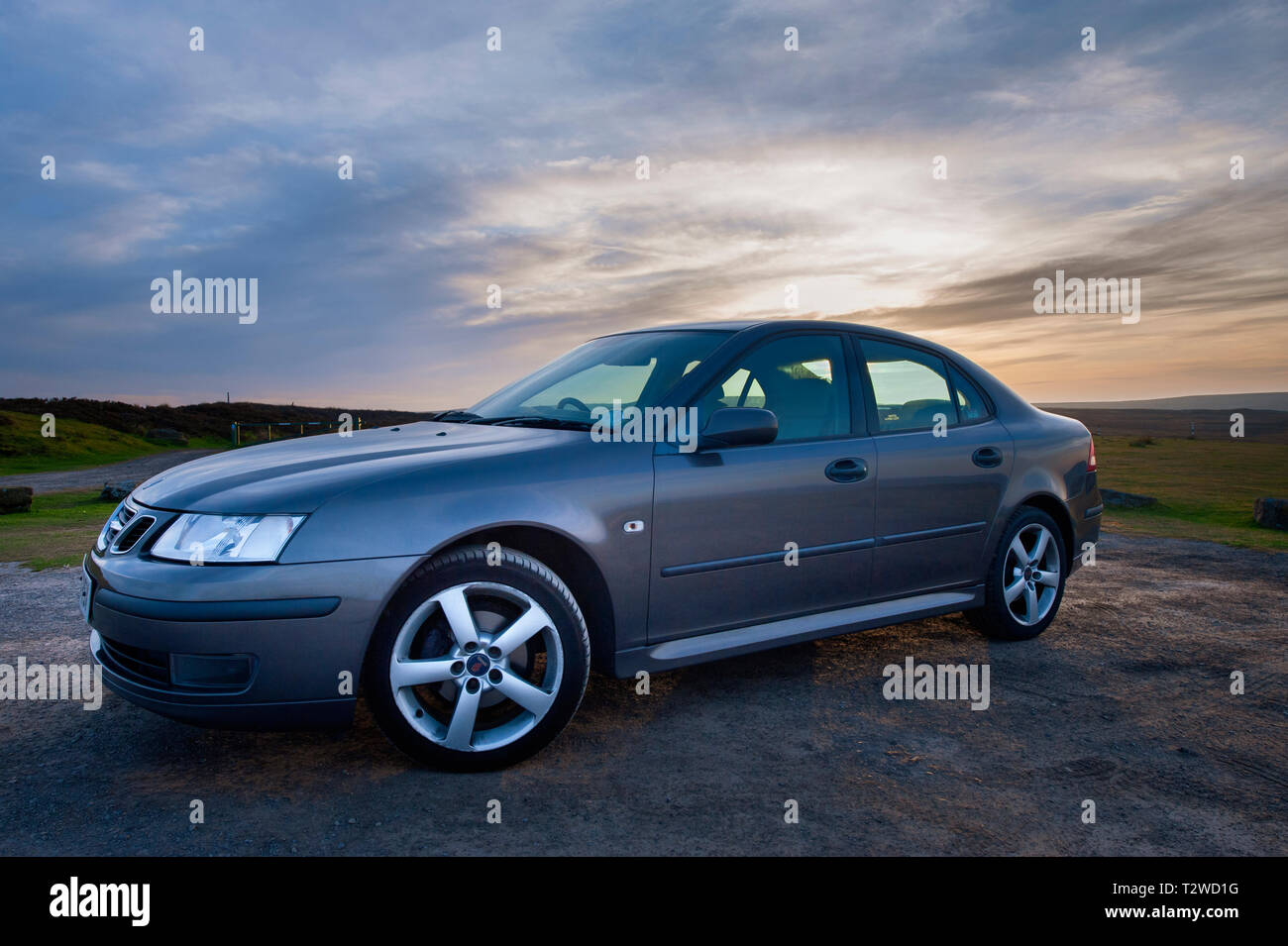 Saab 9-3 Car - Stock Image