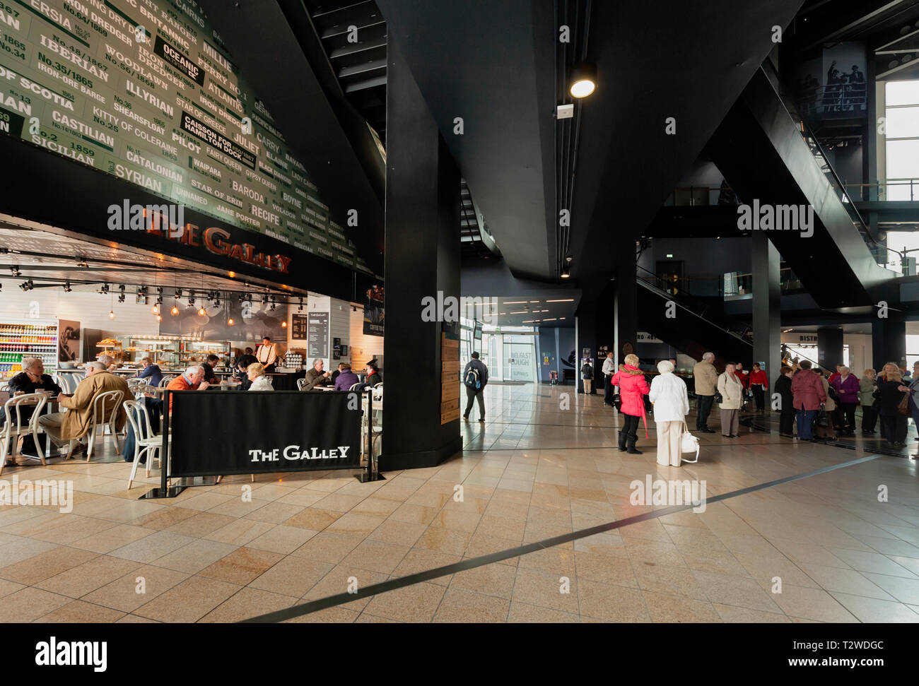 Interior of the Titanic Belfast museum in Northern Ireland - Stock Image