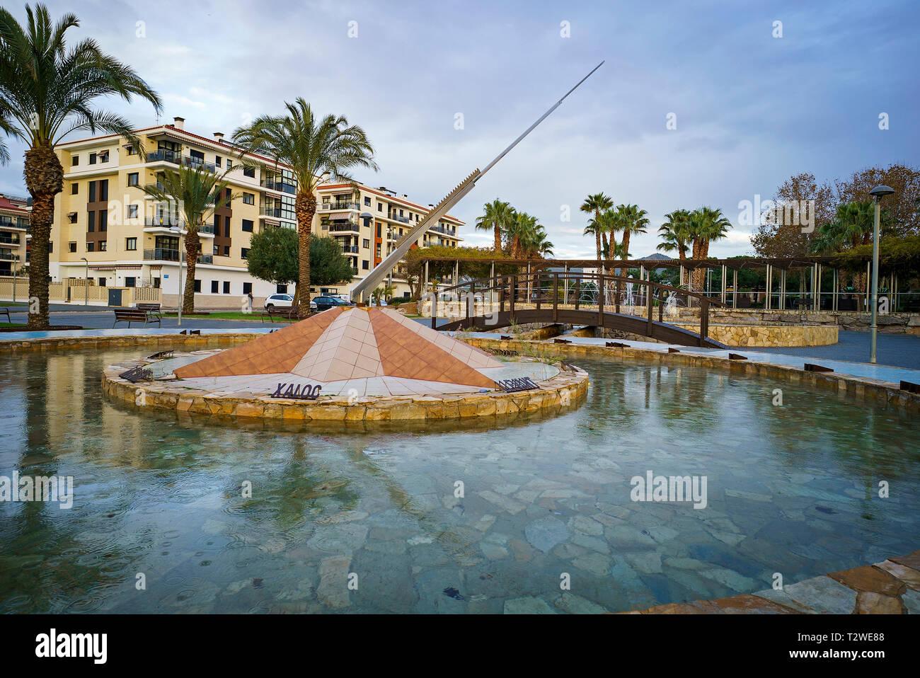 Vientos fontain. Pineda de mar. Barcelona. Catalunya. Spain - Stock Image