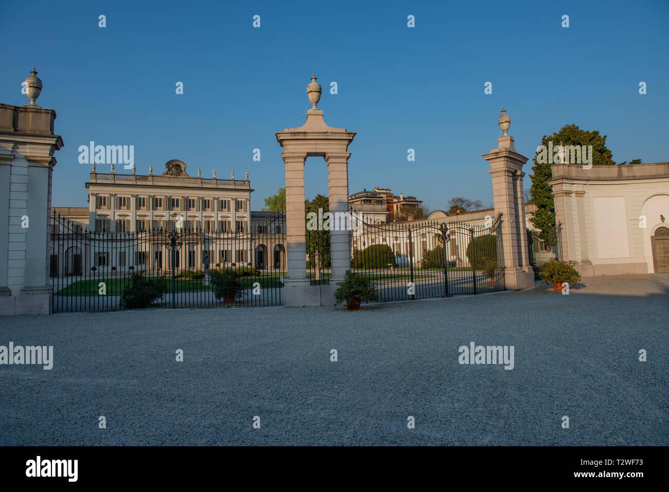 Villa Borromeo in Baroque style in Cassano D'adda Stock Photo