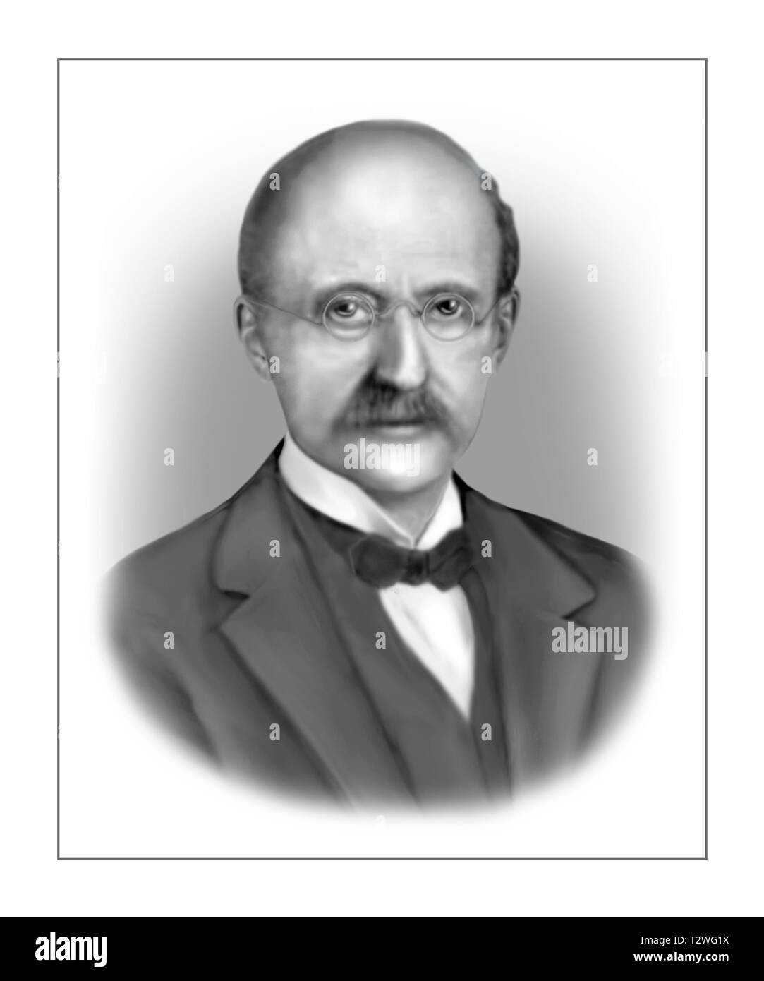 Max Planck 1858-1947 German Theoretical Physicist - Stock Image