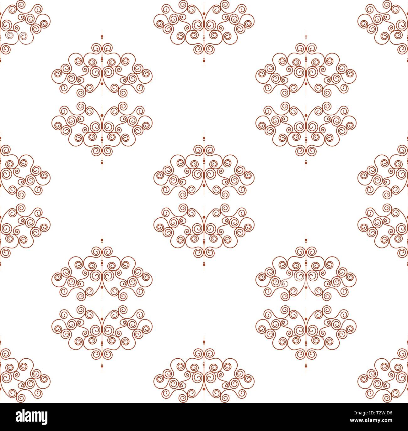 Seamless Pattern Or Forged Elements Modern Style For