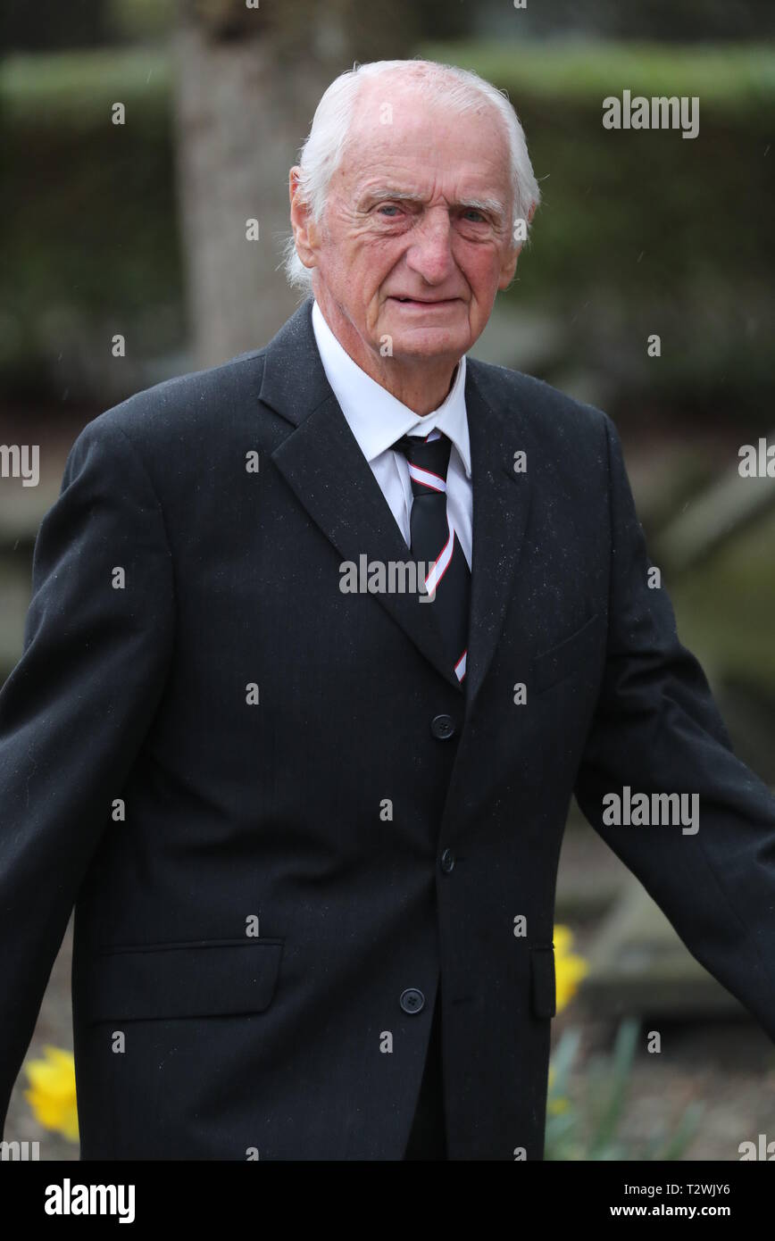 The funeral of England's World Cup winning goalkeeper Gordon Banks at Stoke Minster  Featuring: George Easton Where: Stoke-upon-Trent, Staffordshire, United Kingdom When: 04 Mar 2019 Credit: John Rainford/WENN - Stock Image
