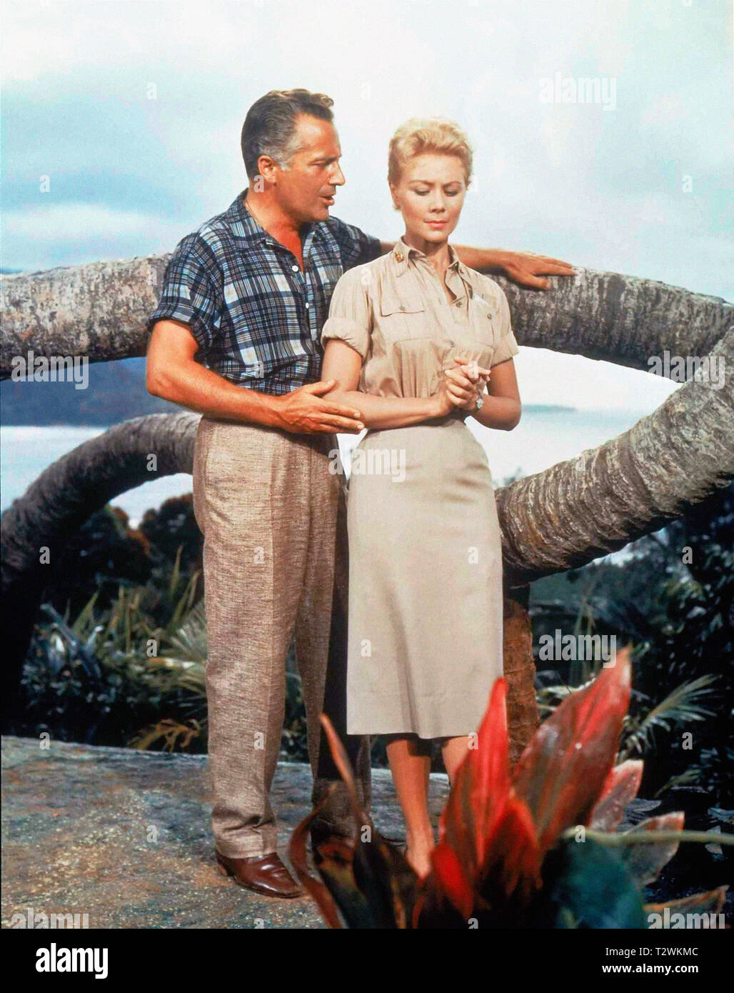 "SOUTH PACIFIC 1958 de Joshua Logan Rossano Brazzi Mitzi Gaynor. d'apres le roman de James Michener ""Tales of the South Pacific"" based on the novel ""Ta Stock Photo"