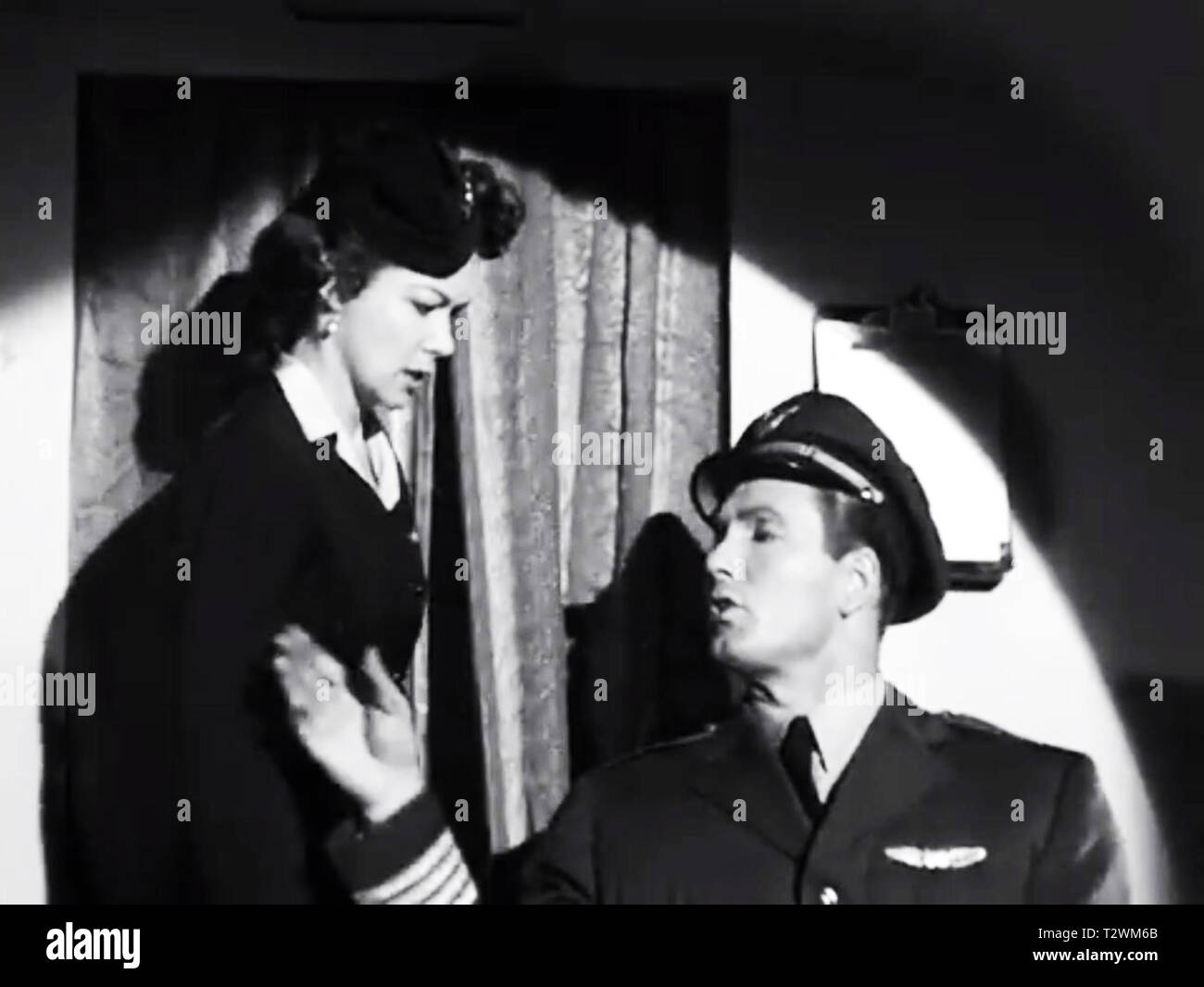 The plane and Pilots from Plan 9 from Outer Space - Stock Image