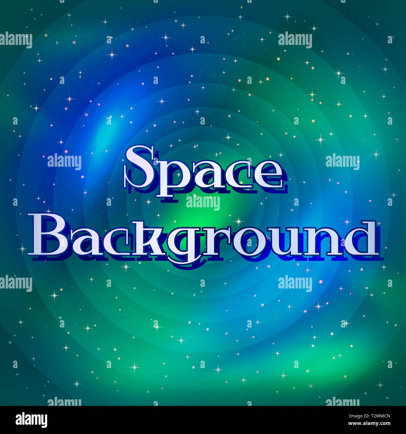 Space Background with Dark Blue Sky, Bright Stars and Colorful Nebulas. Eps10, Contains Transparencies. Vector - Stock Vector