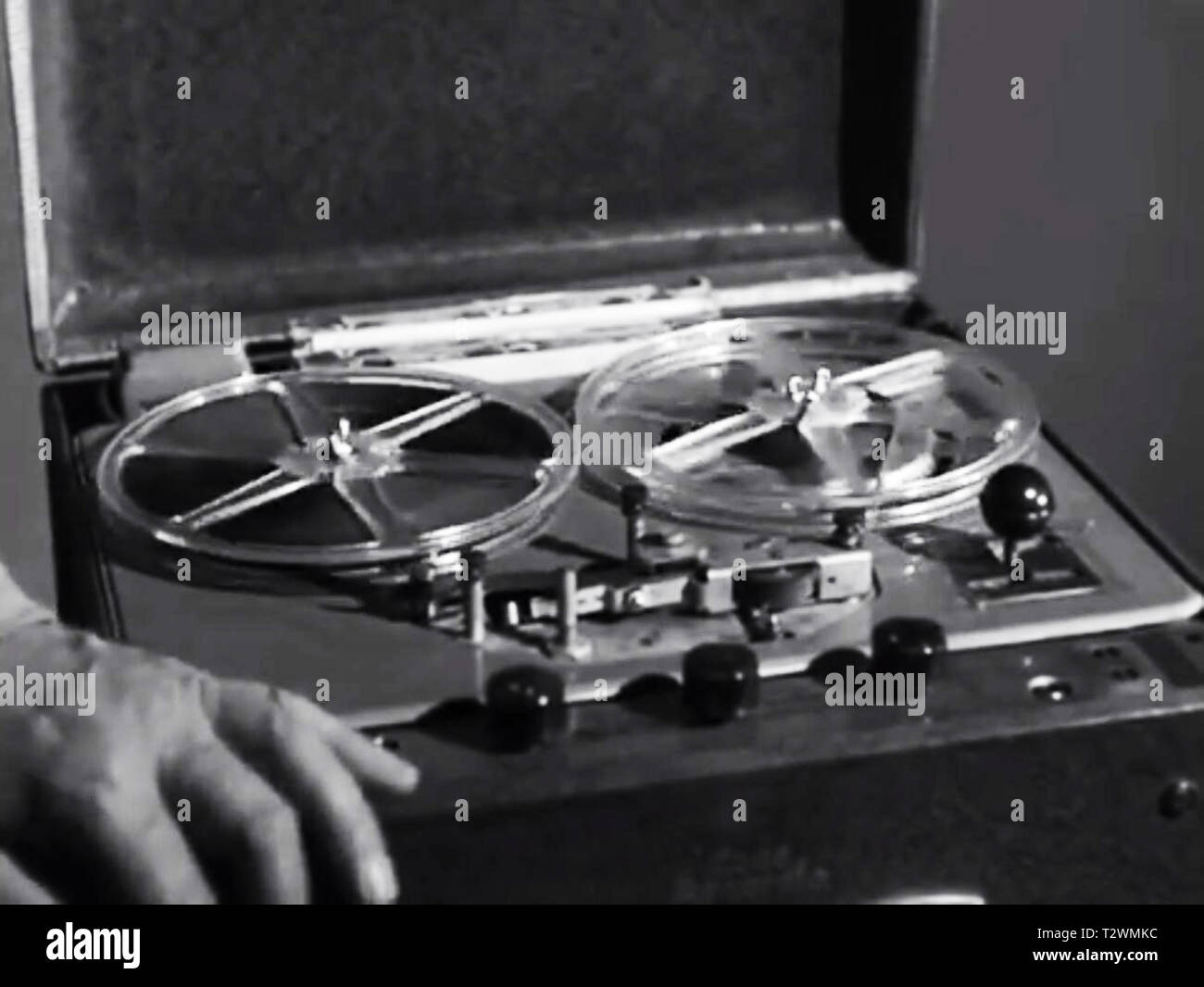 Reel to reel player - Stock Image