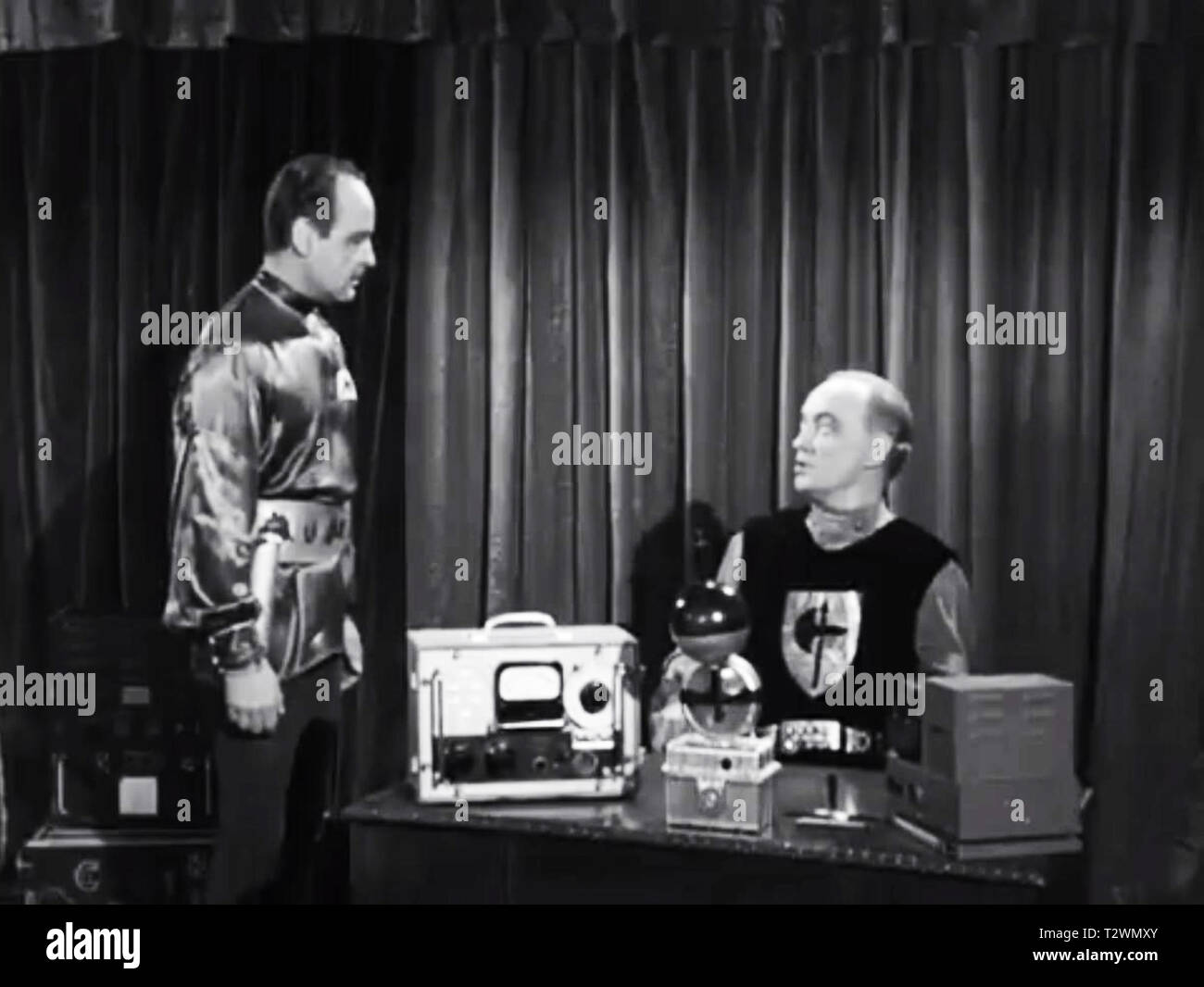 Screenshot of the Aliens from Plan 9 From outer Space - Stock Image