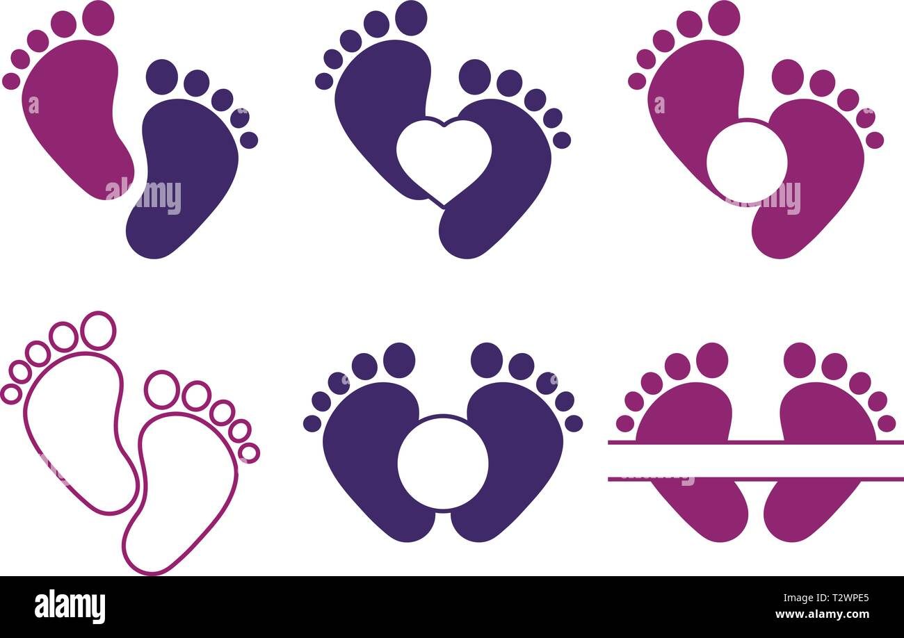 feet vector vectors high resolution stock photography and images alamy https www alamy com baby feet collection with monogram image242740909 html