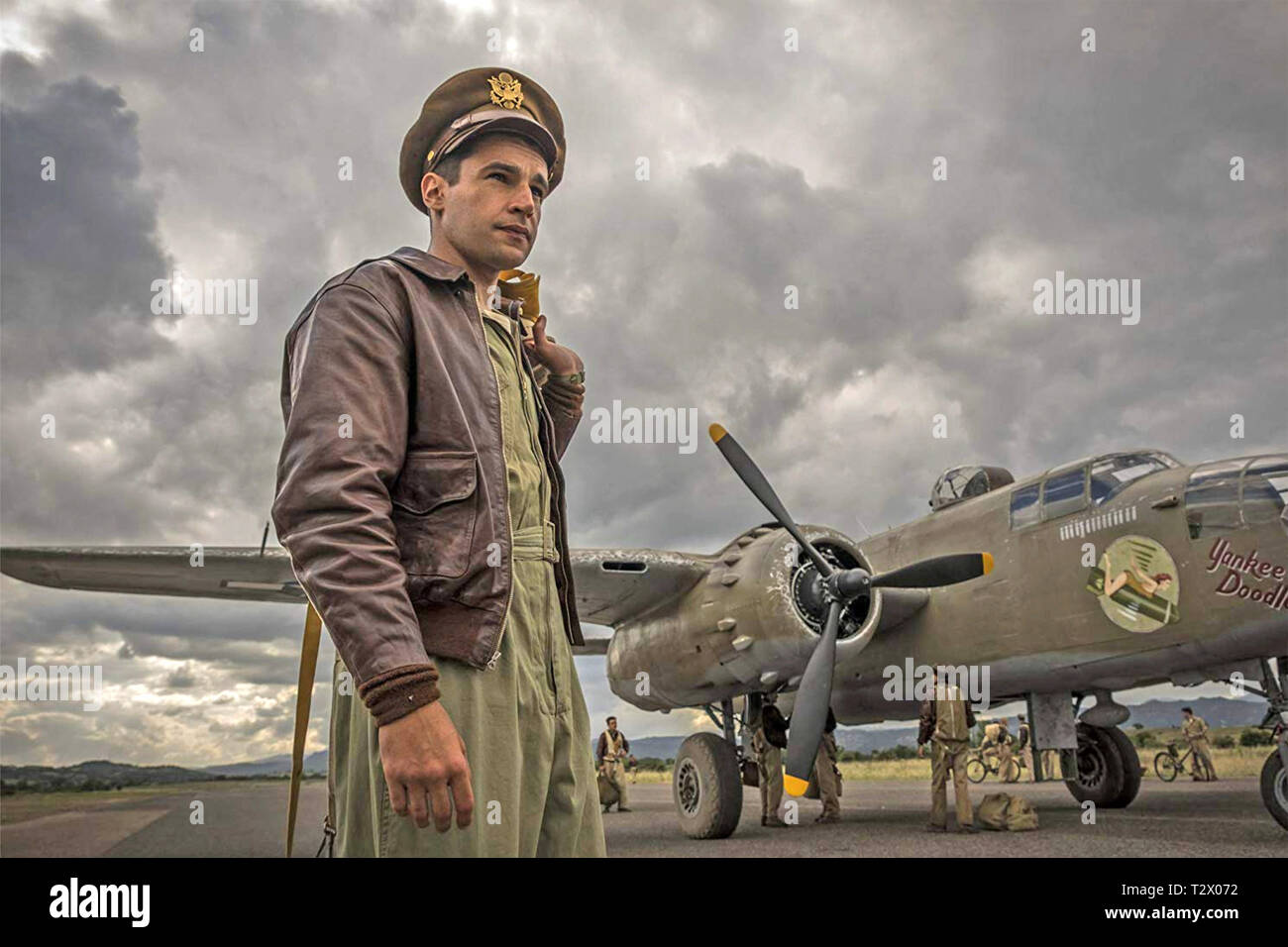 CATCH-22 Paramount Television TV mini series with Christopher Abbott - Stock Image