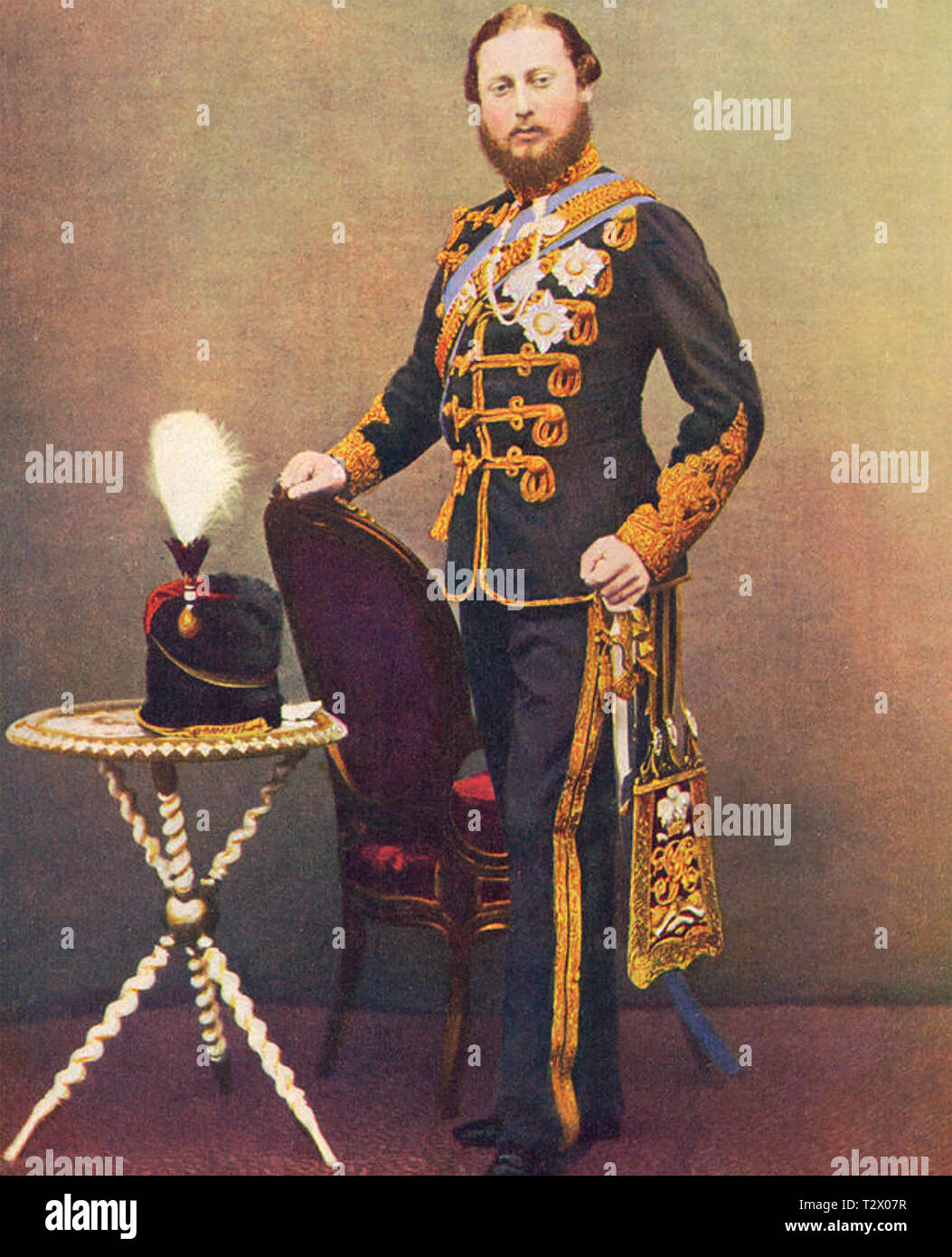 EDWARD VII (1841-1910) about 1860 as Prince of Wales - Stock Image