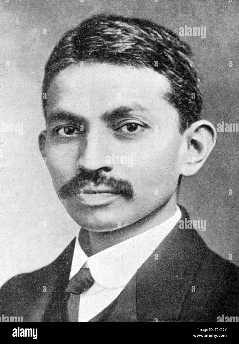 MAHATMA GANDHI (1869-1948) Indian political activist about 1890 - Stock Image