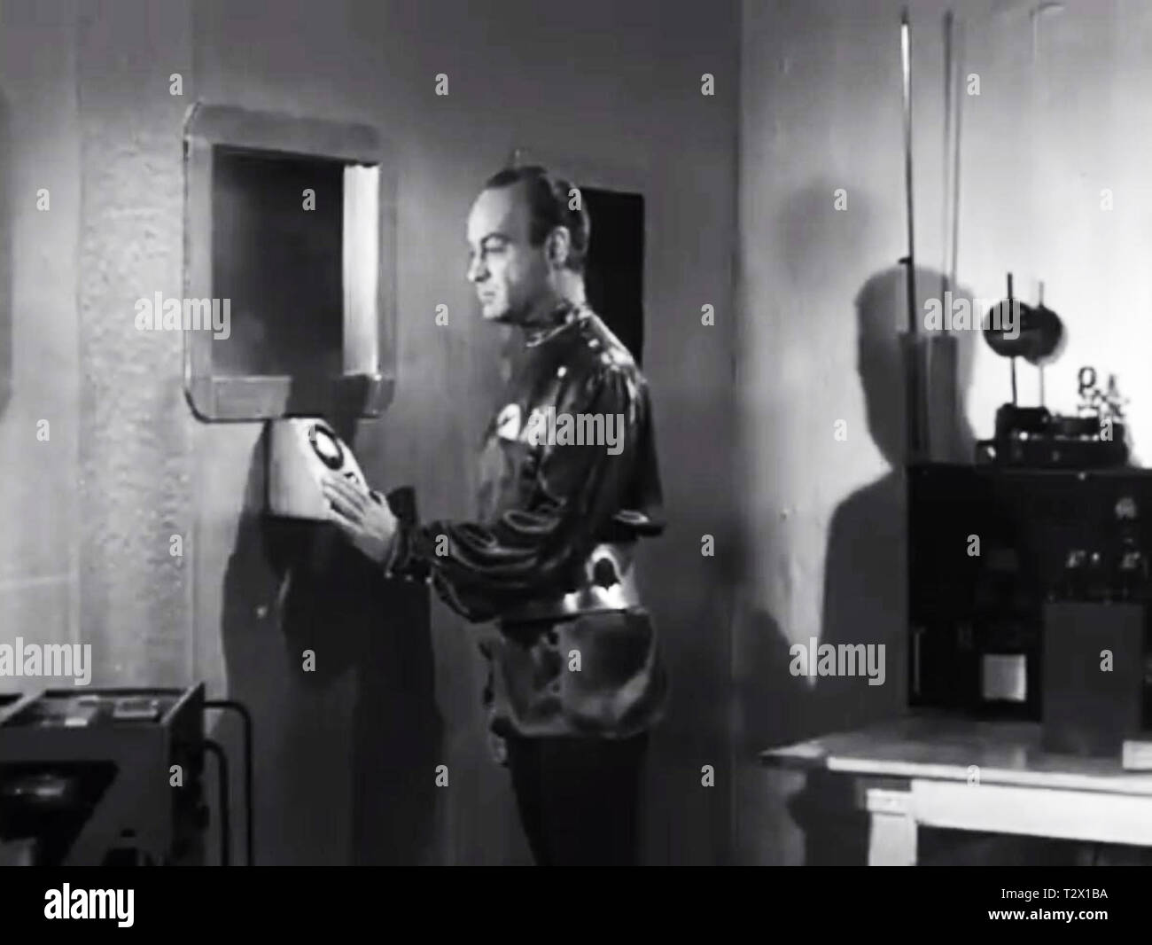 The Aliens from Plan 9 from Outer Space - Stock Image