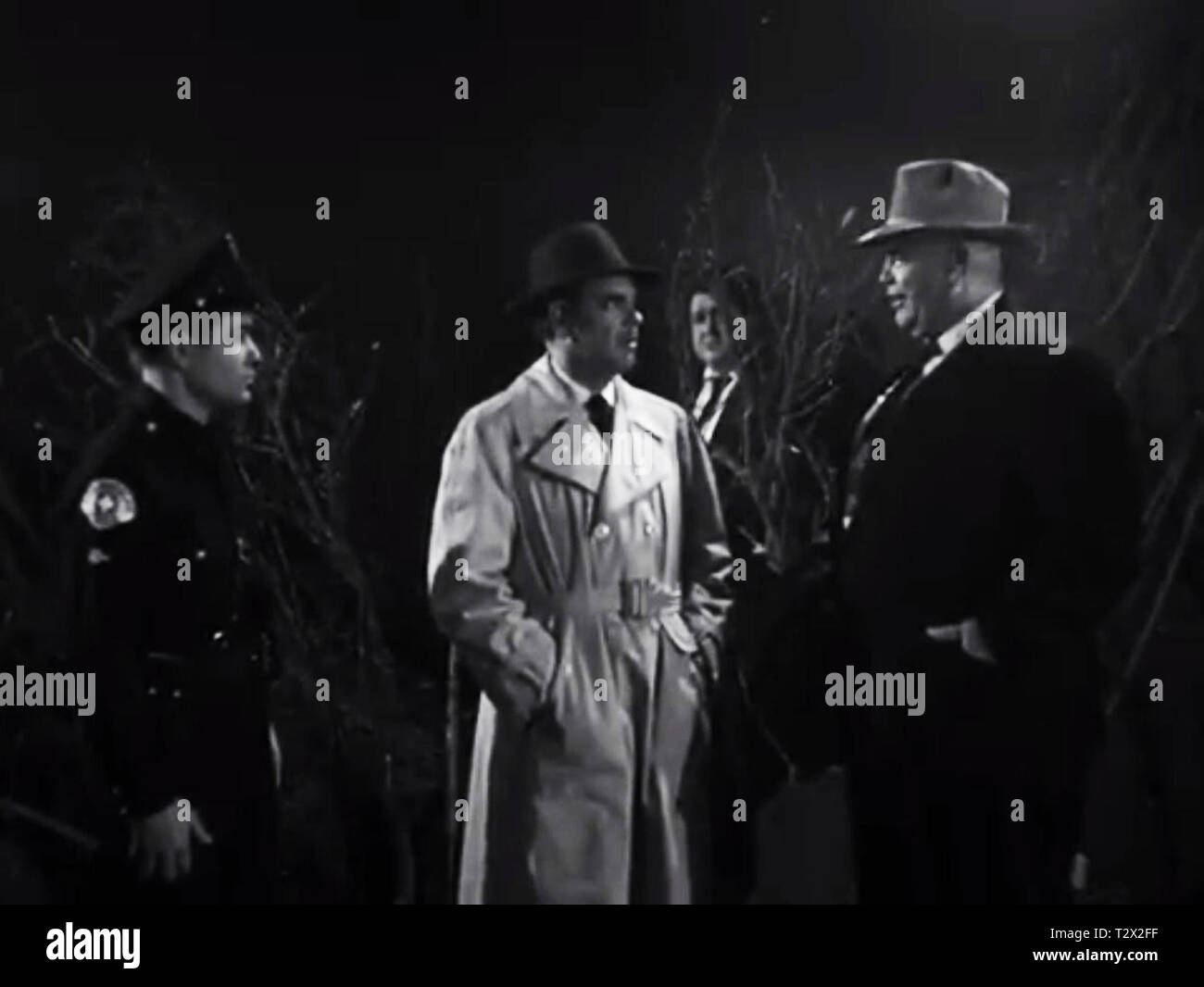 Tor Johnson in Plan 9 from Outer Space by Ed Wood - Stock Image