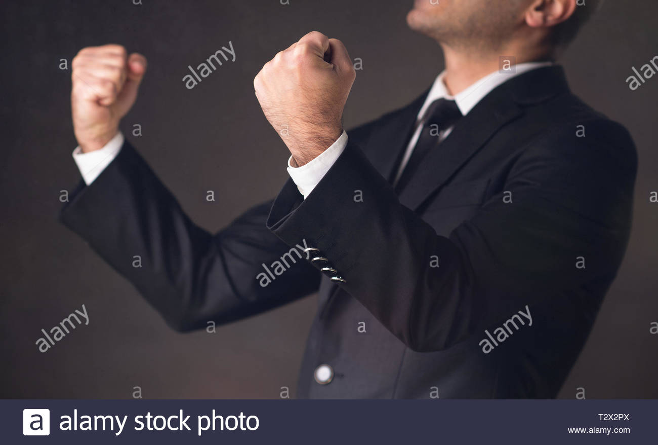 Portrait Of Ambitious Young Businessman Who Succeeded - Stock Image