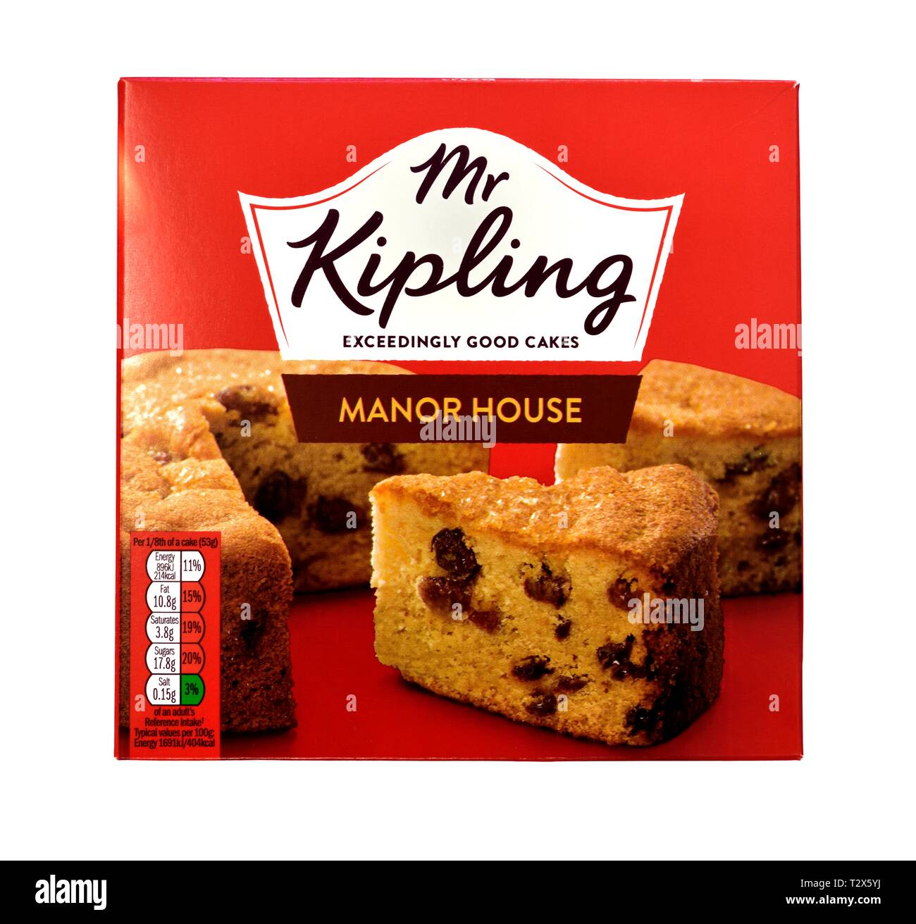 Mr Kipling Manor House Cake Stock Photo