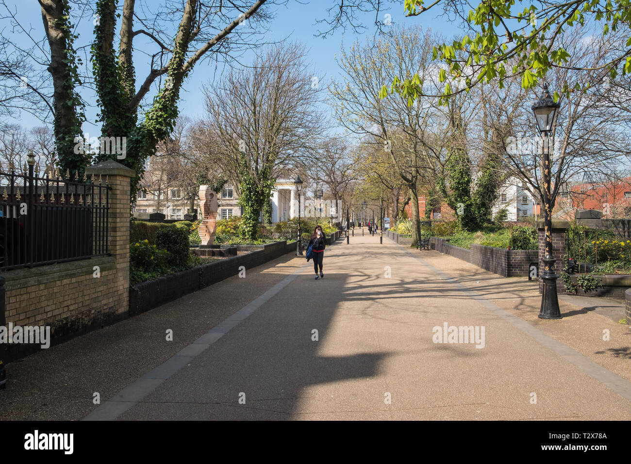 New Walk pedestrian walkway in Leicester City Centre - Stock Image