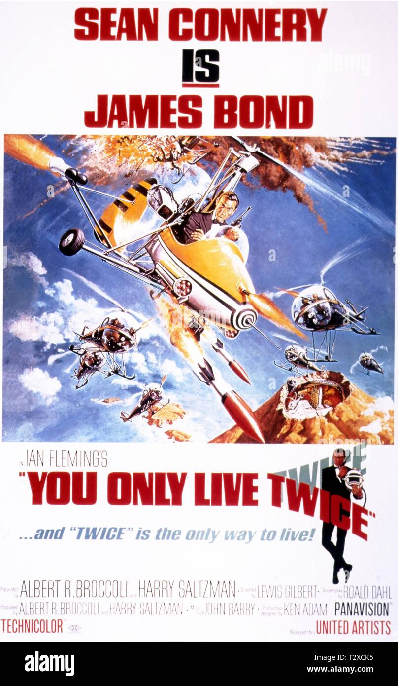 SEAN CONNERY POSTER, YOU ONLY LIVE TWICE, 1967 Stock Photo