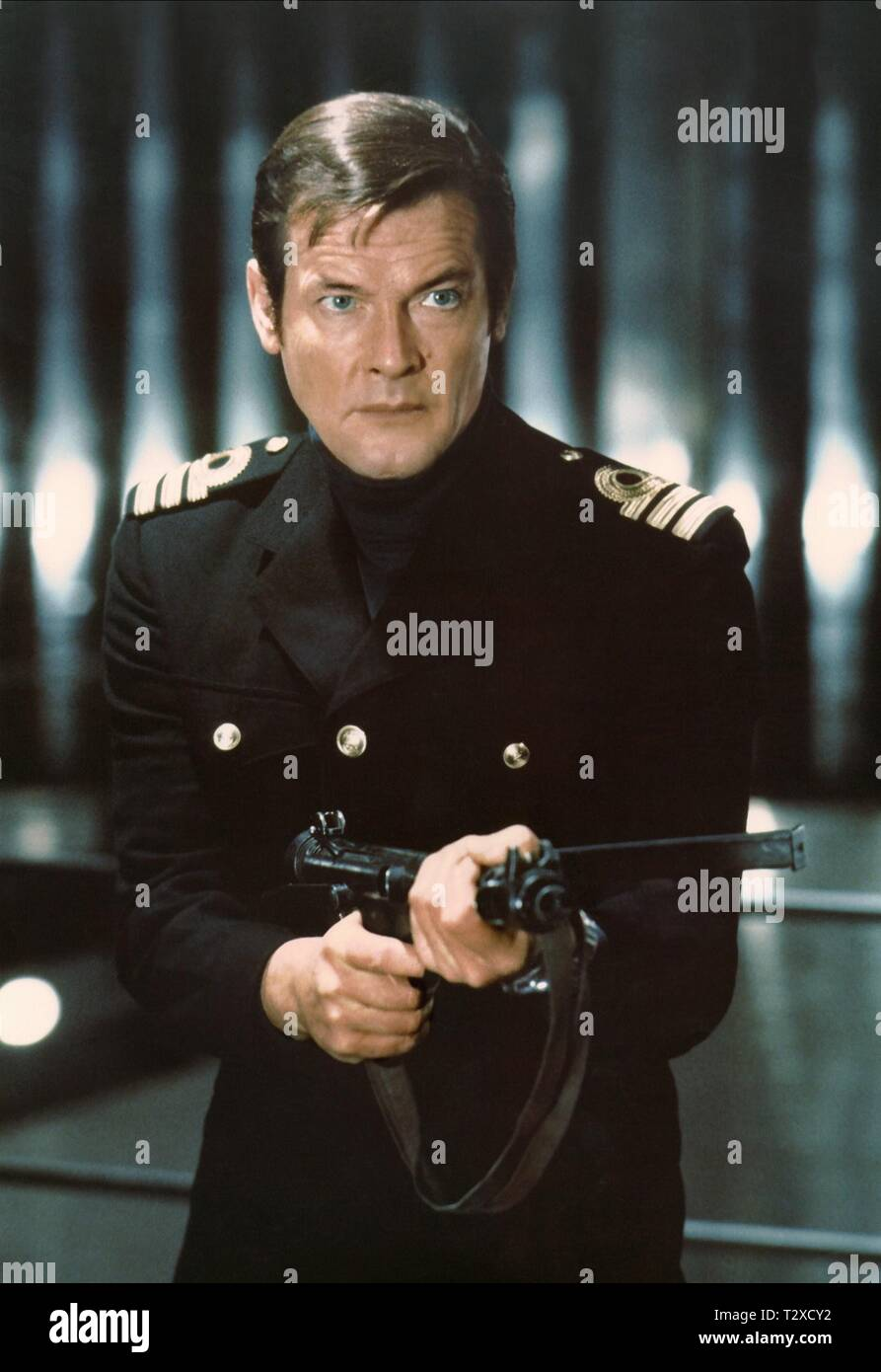 ROGER MOORE,  THE SPY WHO LOVED ME, 1977 - Stock Image