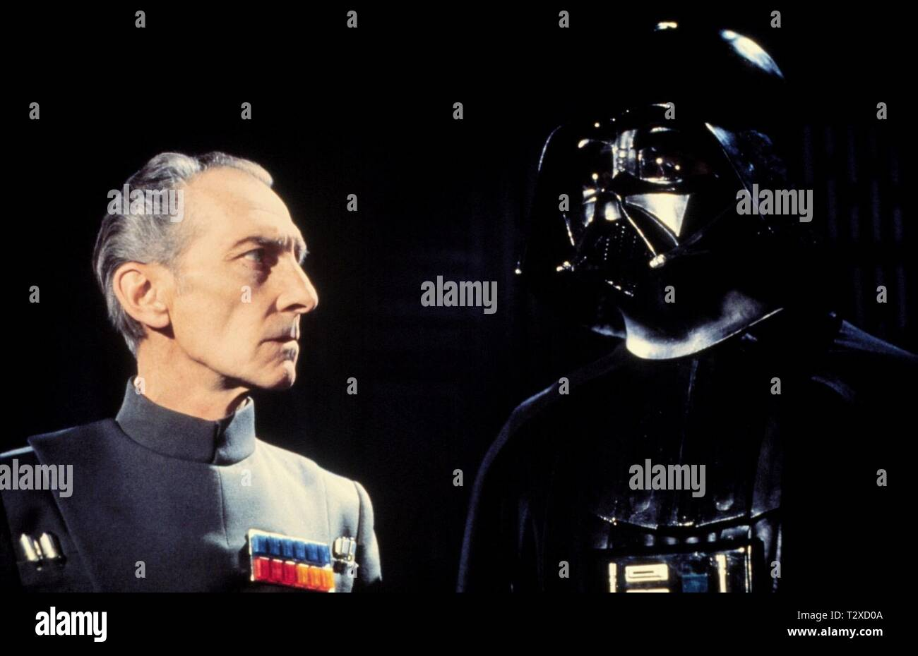 Peter Cushing David Prowse Star Wars Episode Iv A New Hope 1977 Stock Photo Alamy