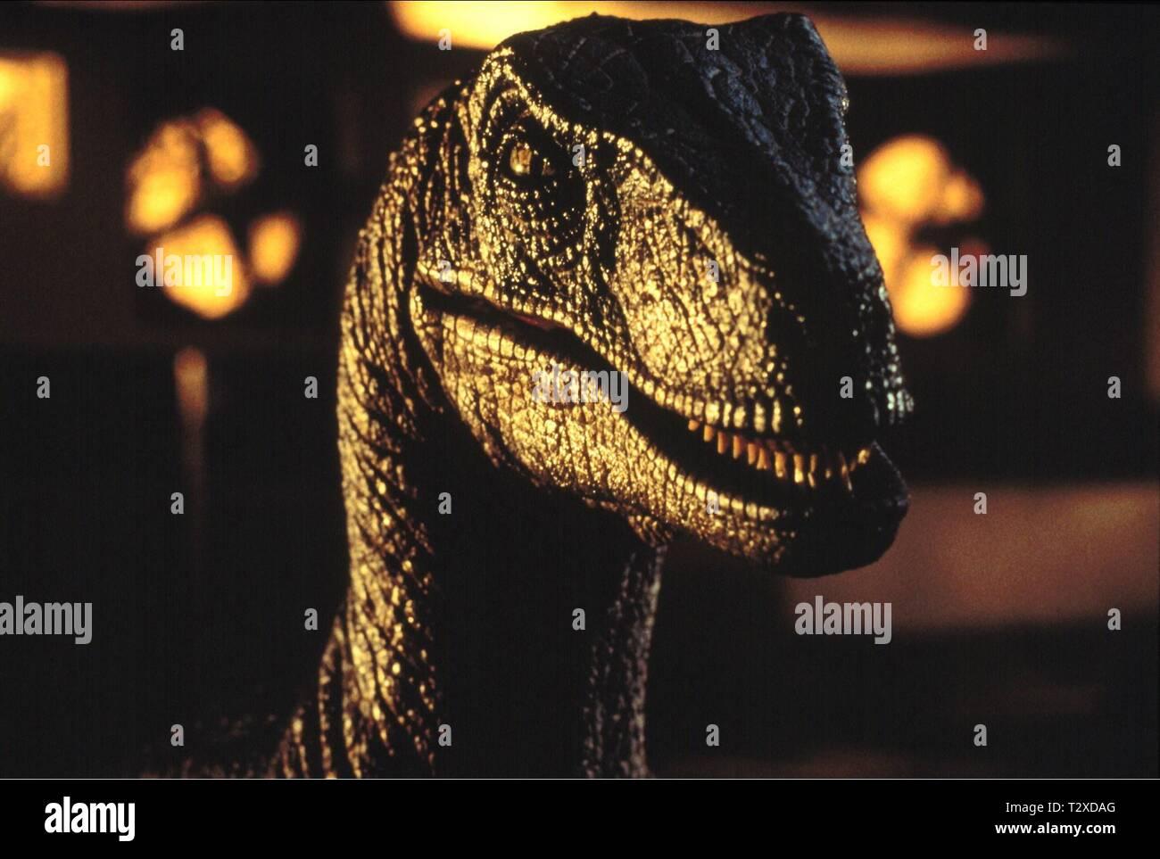 RAPTOR, JURASSIC PARK, 1993 - Stock Image