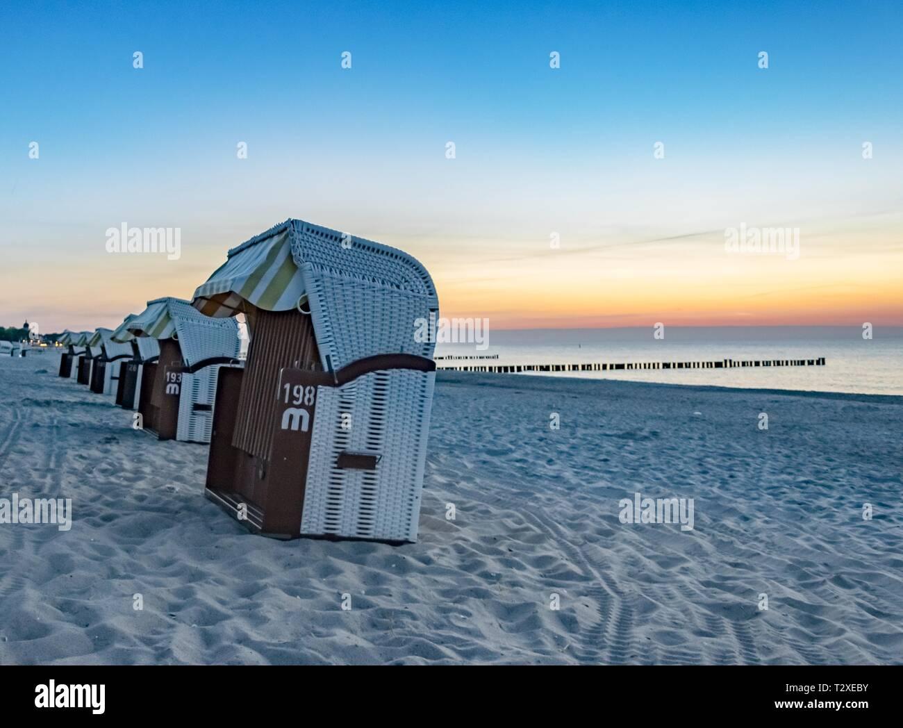 strandkörbe - Stock Image