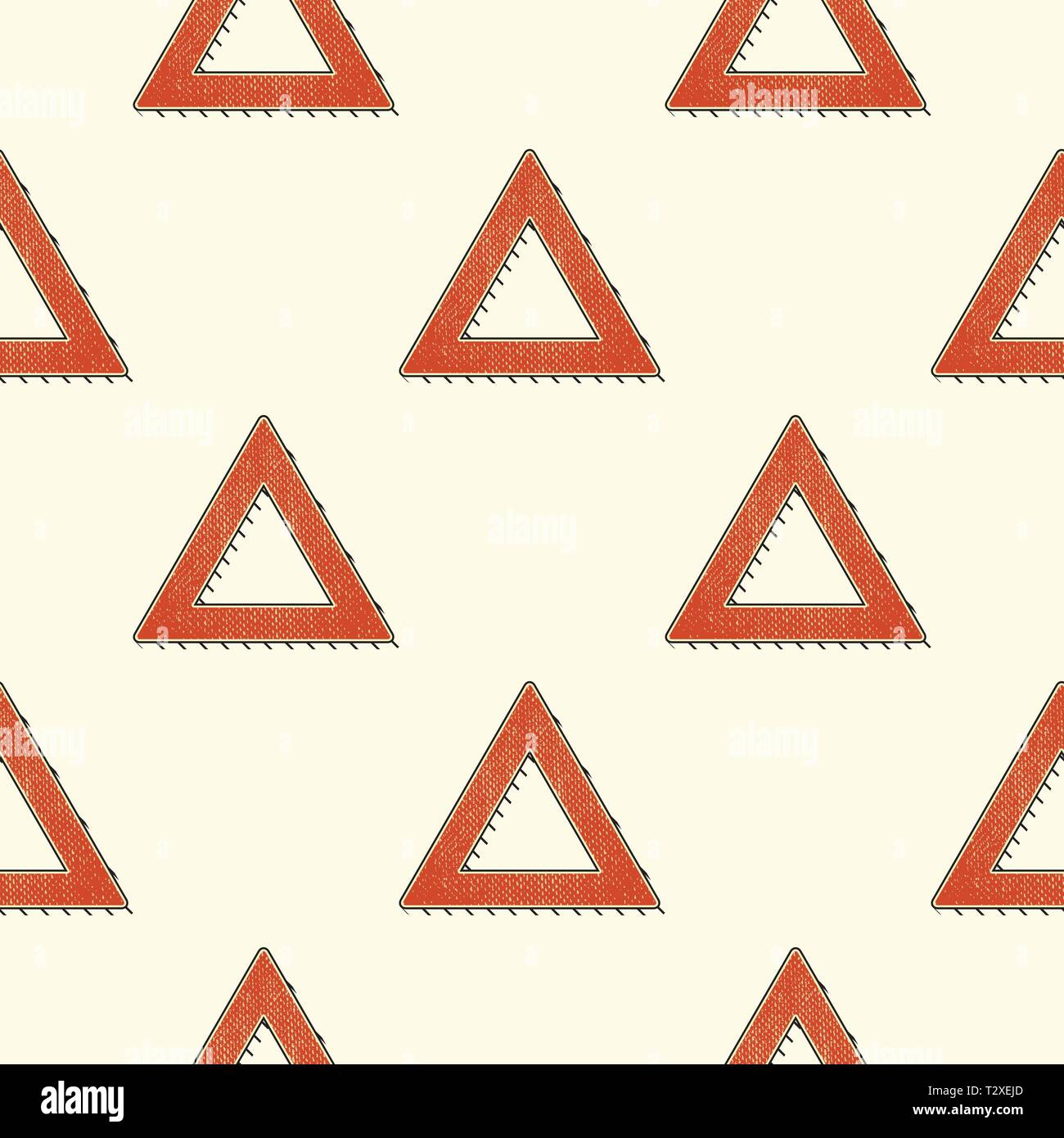 Retro triangles pattern  Abstract geometric background in