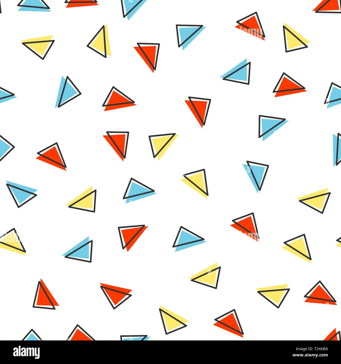 Random triangle pattern, abstract geometric background in