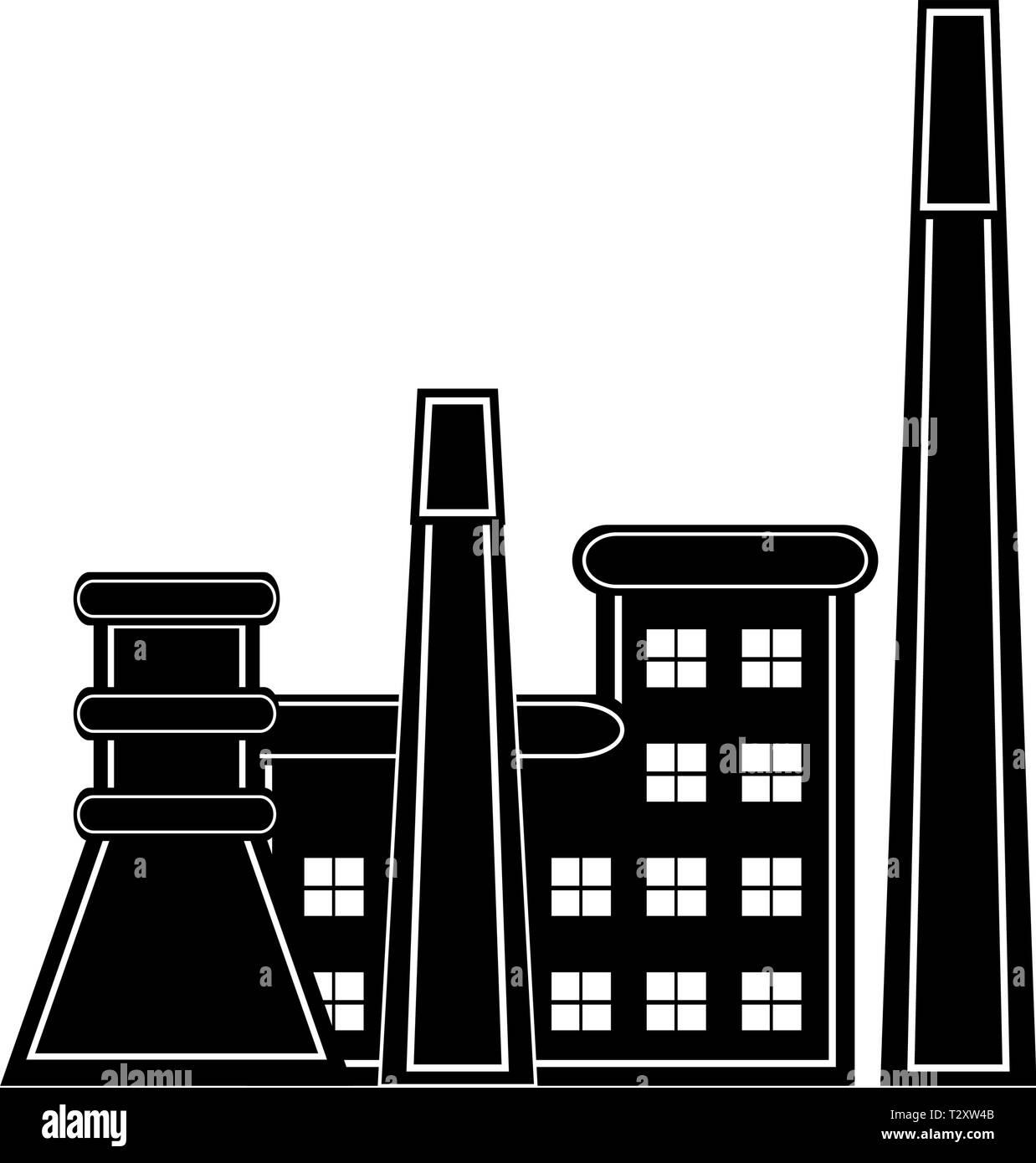 Coal power plant icon  Vector illustration design Stock