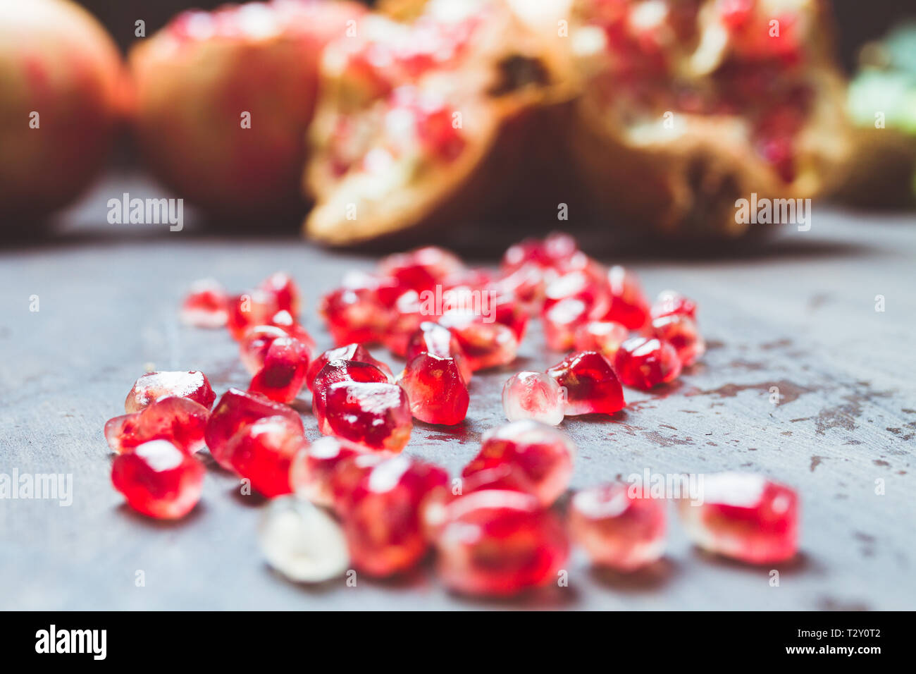 fruit pomegranates for advertising and gastronomic photography - Stock Image