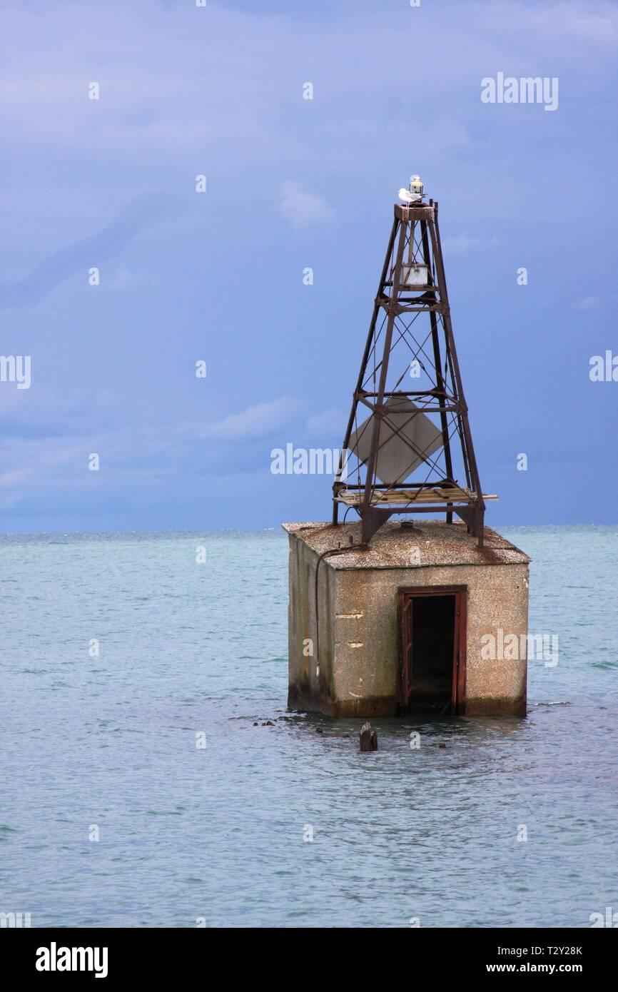 Lake Michigan Buoy - Stock Image
