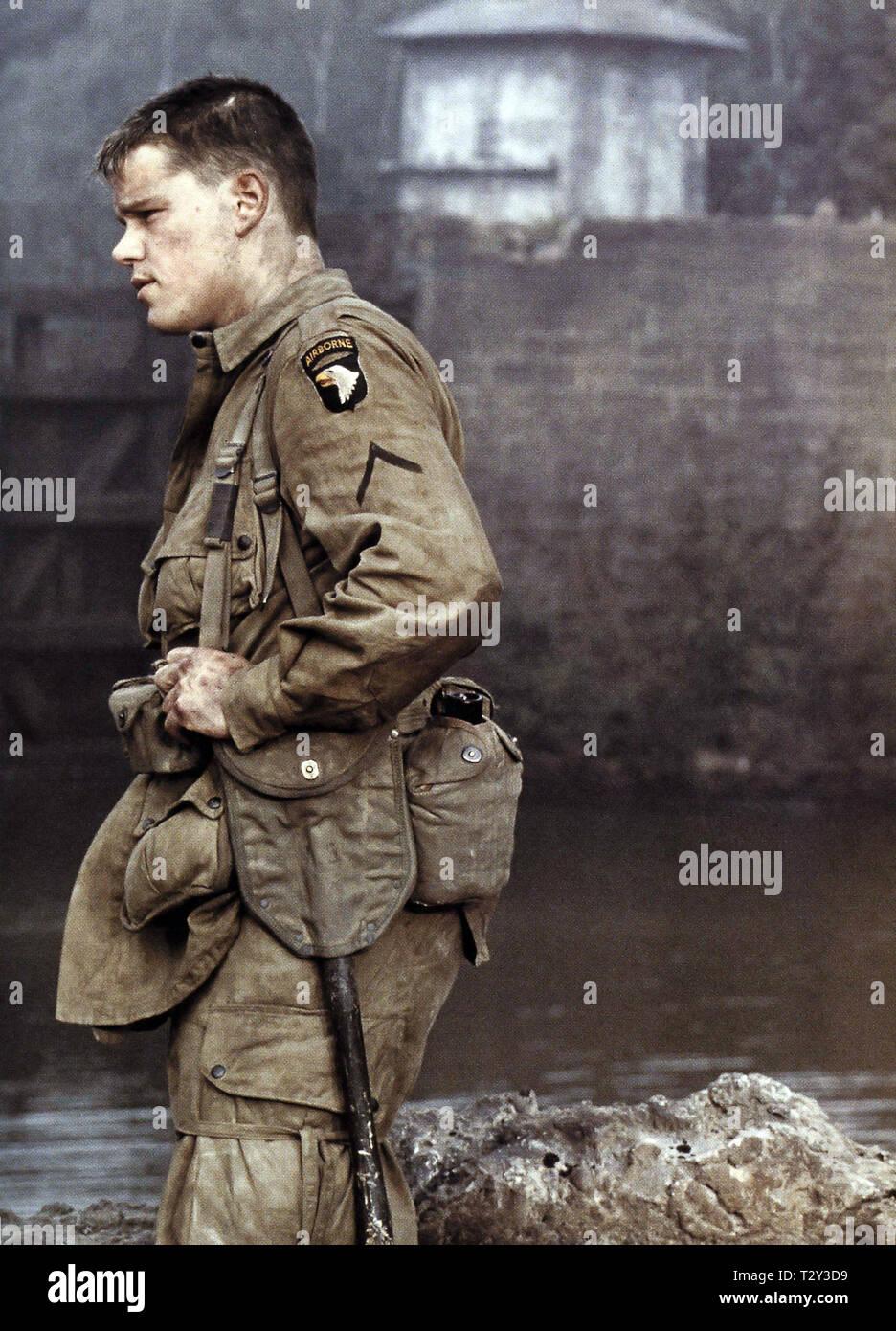 Matt Damon Saving Private Ryan 1998 Stock Photo Alamy