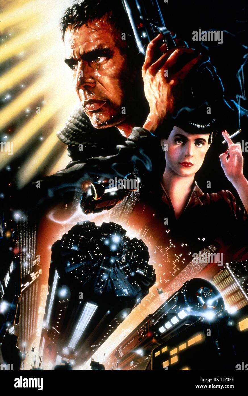 HARRISON FORD, SEAN YOUNG FILM ARTWORK, BLADE RUNNER, 1982 - Stock Image